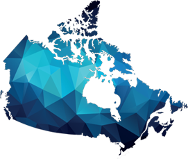 Small map of Canada